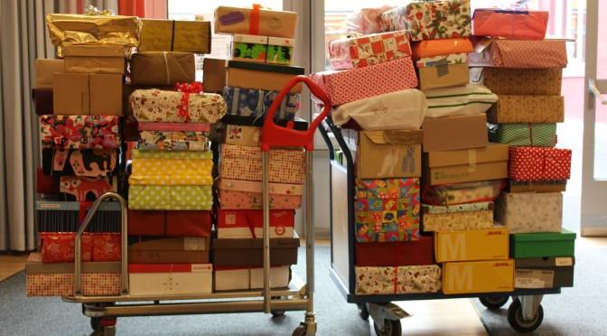 150 Pakete für Flüchtlingskinder