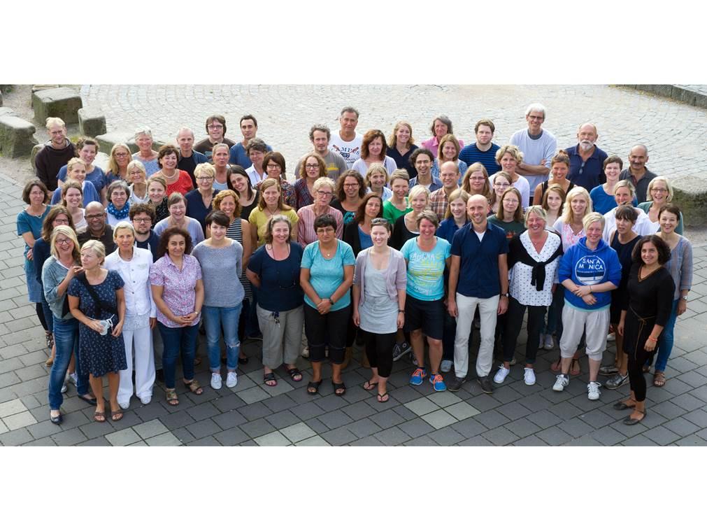 Unser Kollegium zum Schuljahresbeginn im Sommer 2015. Foto: K. Gerdes