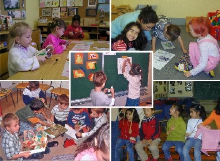 Eindrücke aus dem Vorschulunterricht. Fotos: M. Rieger
